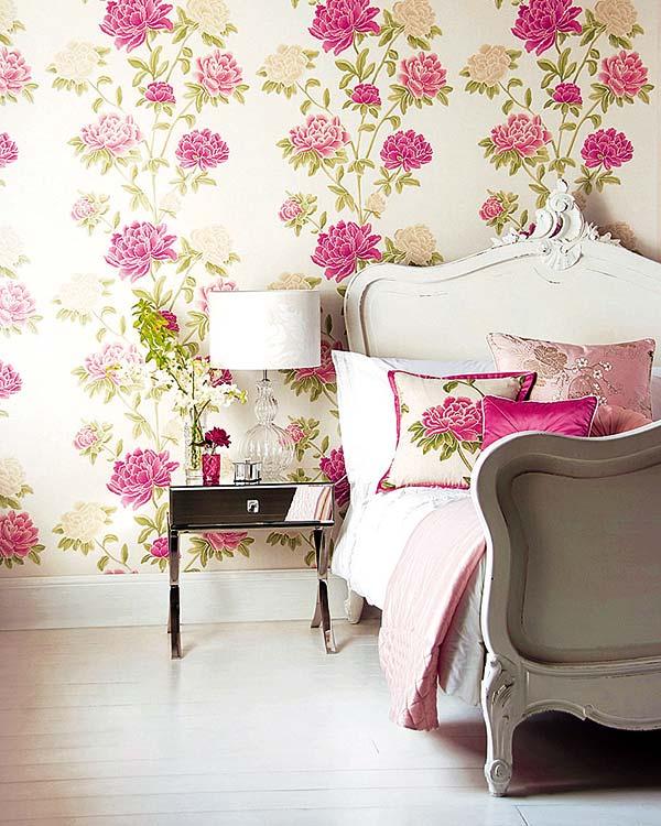 Qual papel de parede usar em quarto de casais Blog da Maanuh ~ Quarto Casal Com Papel De Parede Floral