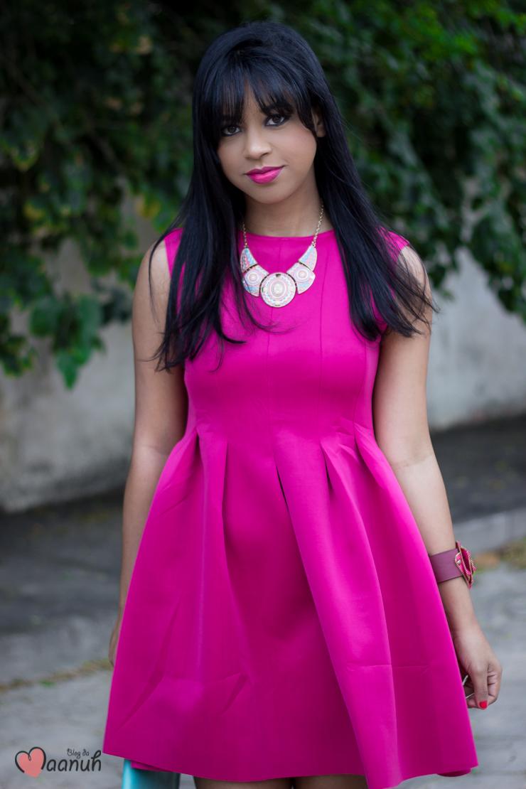 Look vestido rosa