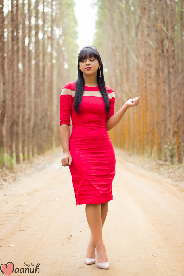 vestido MIDI vermelho-3