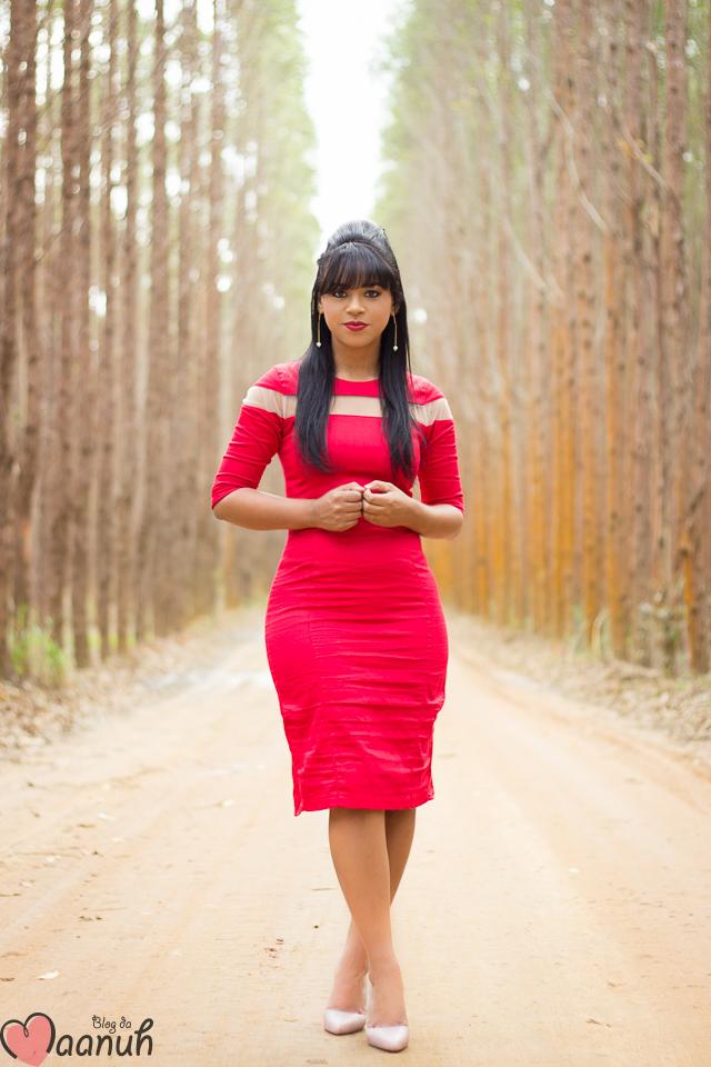 vestido MIDI vermelho-6