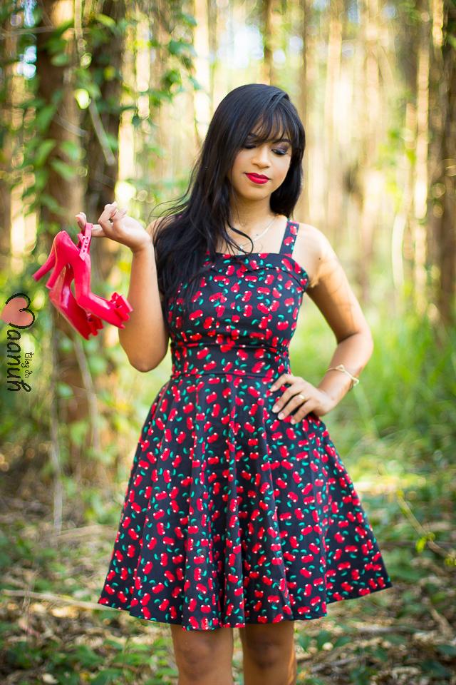 vestido cereja MAANUH
